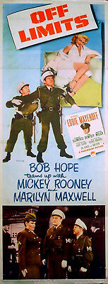 MILITARY POLICEMEN (OFF LIMITS) 1953 Bob Hope, Mickey Roonery INSERT POSTER