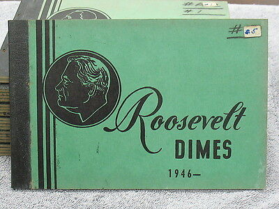 Rooselvelt Dime Set In Vintage Meghrig Book-34 Dates-1946 To 1961 D-Free Ship