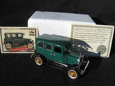 1926 Model T Ford Fordor Sedan-The National Motor Museum Mint-COA & Card- NOS