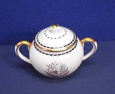 Crown Staffordshire China BLACKSTONE A 16028 Sugar Bowl with Lid