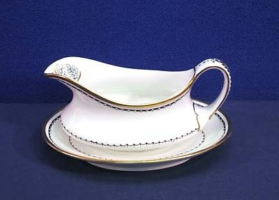Crown Staffordshire China BLACKSTONE A 16028 Gravy Boat with Underplate