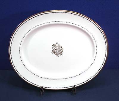 Crown Staffordshire China BLACKSTONE A 16028 Oval Serving Platter 15-1/2""