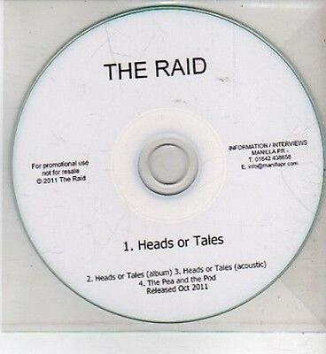 (CI116) The Raid, Heads or Tales - 2011 DJ CD