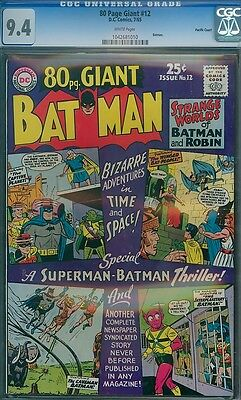 Batman 80-Page Giant 12 CGC 9.4 W PACIFIC COAST 1965 NM Eighty Pages PEDIGREE