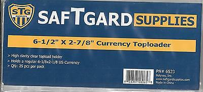 (300) Paper Currency Size Top Loader Holders - Priority Shipping