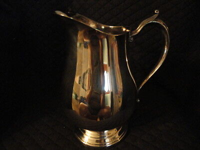 In orig box , Kent Silversmiths Silverplate Pitcher, 9""