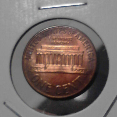1961-D LINCOLN CENT GEM BU end-of-roll TONED