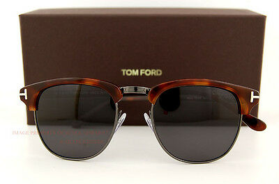 ad97650f1941 Brand New Tom Ford Sunglasses CLUBMASTER FT 248 HENRY Color 52A GUNMETAL UNI