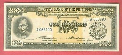 Philippines 1949 One Hundred Pesos English Series P-139...more Notes In My Store