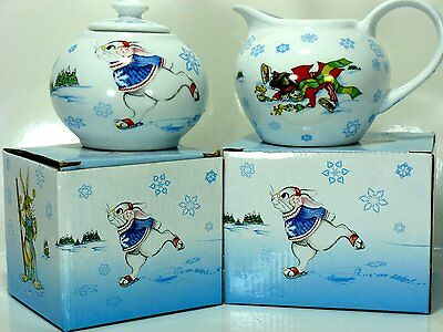 Paul Cardew Design 2010 Alice in Winterland Creamer Lidded Sugar Bowl Set NIB