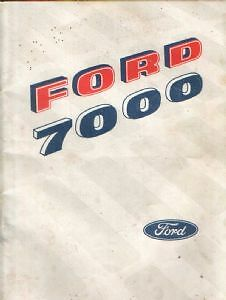 Ford Tractor 7000 Operators Manual