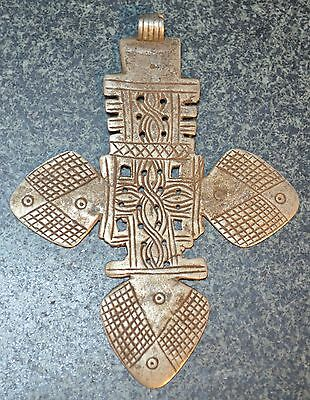 Antique Ethiopian Orthodox Coptic Christian Cross Pendant Amulet Ethiopia Africa
