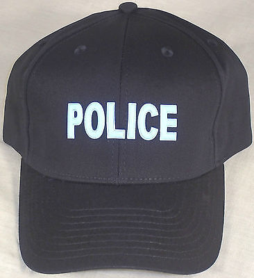POLICE 3D Fusion navy blue baseball hat/cap with reflective lettering