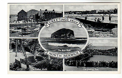 North Berwick - Multiview Photo Postcard c1930