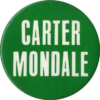 1976 Jimmy CARTER Walter MONDALE Logo Button (4778)