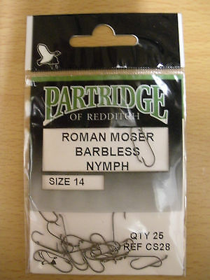 Partridge H1B//CA Pack of 25 Fly Tying Hooks Size 6