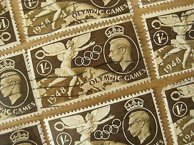One London 1948 olympics George VI shilling 1/- stamp - USED - 2012 collectable