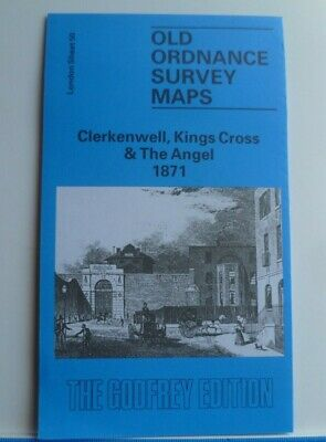 Old Ordnance Survey Maps Clerkenwell Kings Cross & Angel London 1871 Godfrey Edt