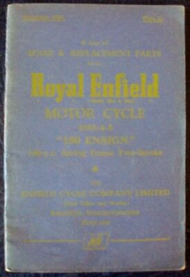 Royal Enfield 150 Ensign - Motorcycle Spares List - Dec' 1955 #507/2 1/2 M.1255
