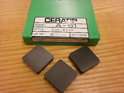 BRAND NEW Ceratip SNG 634 A-61 Ceramic Inserts 541SO