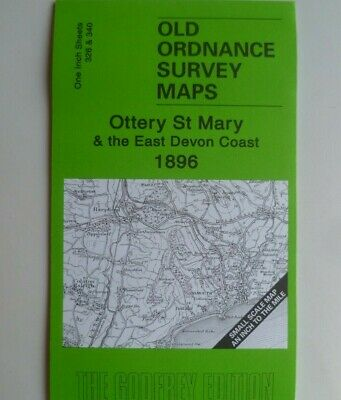 Old Ordnance Survey Maps Ottery St Mary Sidmouth Lyme Regis Honiton 1896 New