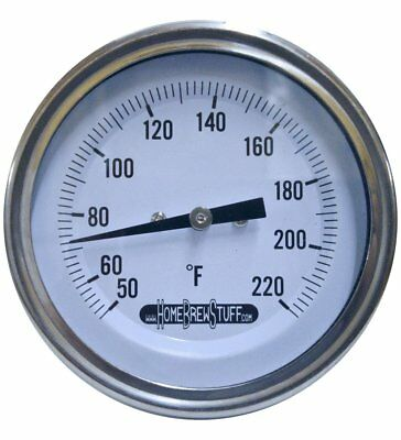 """3"""" Weldless Thermometer For Home Brew Kettle 2.5"""" Probe Homebrew Beer Brewing"""