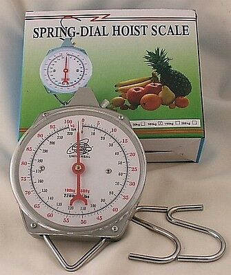 Brand New fishing Metal Hanging  Scale Upto 100kg 220lb