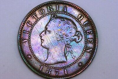 Pleasantly Nice Looking 1871 Price Edward Island Cent Coin KM #4 - NET F