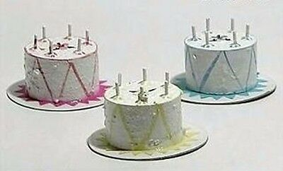 Cakes (set of 3) 1/12 Scale Dollhouse Miniatures Food Dessert Kitchen Party