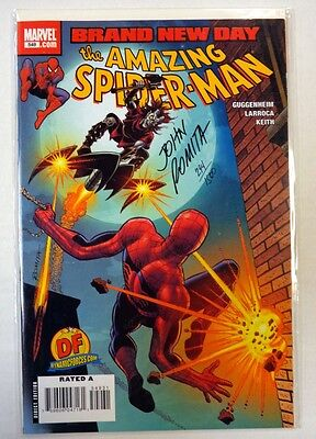 AMAZING SPIDER-MAN #549 DF VARIANT COVER SIGNED BY JONH ROMITA SR DYNAMIC FORCES