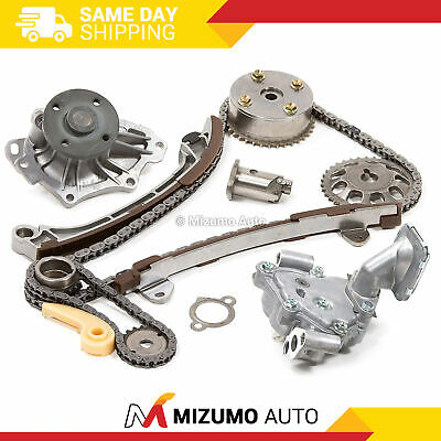Timing Chain Kit VVT Gear Water Oil Pump Fit 01-13 Toyota Scion 2.4 1AZFE 2AZFE