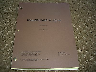 Macgruder & Loud Tv Show Script Stepover Man And