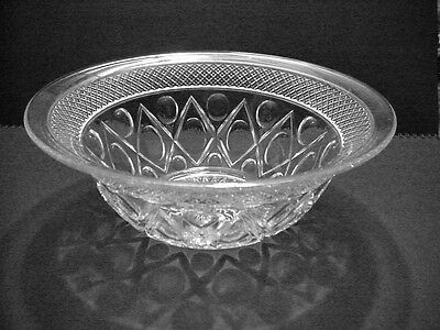 Elegant Depression Cape Cod Imperial Glass 10 & 3/4 in Bowl 4 inches tall NICE!