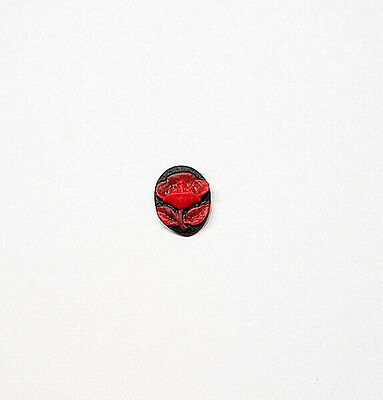 6 of 10x8 mm Red over Black Single Perfect Rose Cameos 4 Pendant, Earring, Charm