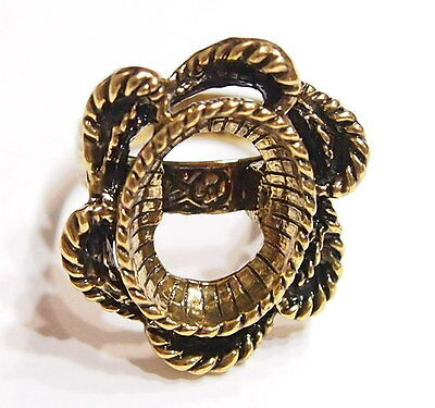 2 of 18x13 mm Antique Gold Victorian Art Deco Vintage Twisted Rope Ring Settings