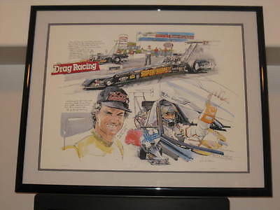 BIG DADDY DON GARLITS AUTOGRAPHED DUAL SIGNED LE PRINT CUSTOM 40x32 in. FRAME