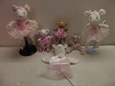 American Girl Angelina Ballerina Polly Doll Puppet Lot & Gray Mouse