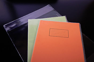 100x A4 SCHOOL EXERCISE BOOK COVERS clear plastic 298mm x 425mm