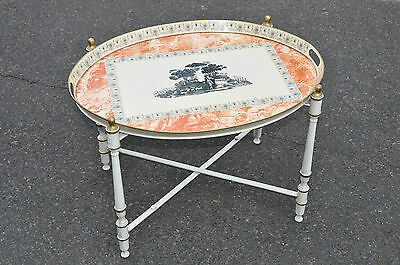 Italian Cocktail Table With Toile Decoration