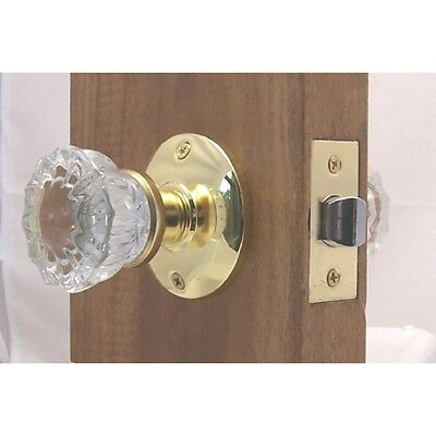 LOTS of 4 Fluted Crystal Glass Door Knob Sets-Original adapters-Low S/H ANYWHERE