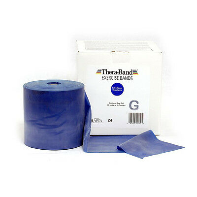 THERA-BAND ® 1,5 m blau Gymnastikband Original Theraband von der Rolle