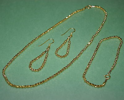 4 Sets GOLD PLATED Silver VERMEIL 3mm LASER CUT Beads NECKLACE BRACELET EARRINGS