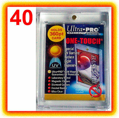 40 Ultra Pro ONE TOUCH MAGNETIC 360pt UV Card Holder Display Case 82719-UV 360