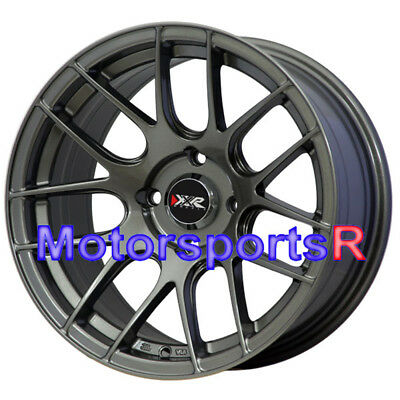 16x8.25 XXR 530 Gunmetal Concave Rims Wheels 4x100 Hellaflush 02 Honda Civic SI