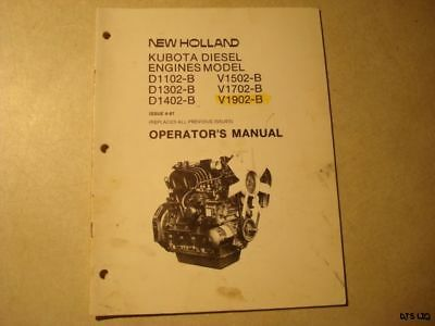 kubota diesel engine operator s manual 24 99 picclick rh picclick com kubota v1702 workshop manual Kubota V1702 Diesel