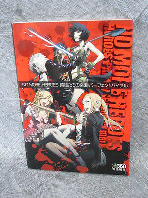 NO MORE HEROES Perfect Bible Game Guide Book Japan PS3 XBox360 FREESHIP EB5493*