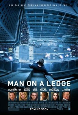 MAN ON A LEDGE -2012 orig 2-sided 27x40 movie poster- SAM WORTHINGTON, ED HARRIS