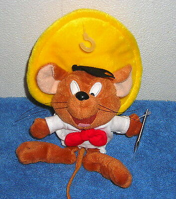 "Warner Brothers Studio Store Speedy Gonzales 8"" Plush Bean Bag Small Tag"