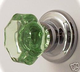 fine 24% Lead Crystal Cabinet/BiFold Old Town Knob FLAT RATE S/H $6.99 USA & CA