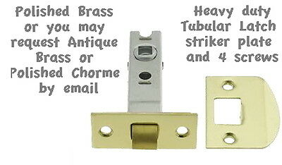 Polished Brass Retrofit Latch Set for Antique Knobs ANYWHERE FLAT RATE S/H $4.99